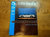 1990 Oldsmobile Cutlass Supreme Convertible  Supplement Service Manual
