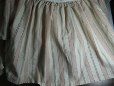 Chaps Ralph Lauren French Riviera Red Cream Stripe Bed Skirt Dust Ruffle