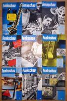 17x Funkschau 1961 Funktechnik Zeitschrift Hefte alt Franzis Radio TV Kamera
