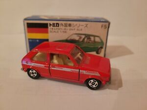TOMICA F5 - VW GOLF GLS [RED] CAR MINT VHTF BOX GREAT JAPAN COMBINED POST