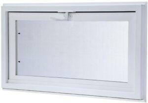 Basement Hopper Vent Screen Vinyl Window Lock Ventilation Venting Replacement