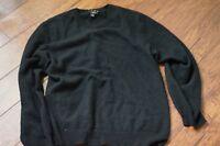 Charter Club 100% CASHMERE Black Crew Neck Mens Sweater Sz L worn