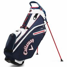 Callaway Fairway Double Strap Golf Stand Bag 2020 - Navy/White/Red