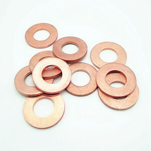30Pcs M5 inner diameter Copper washers flat gasket marine watch washer 7mm-9mmOD
