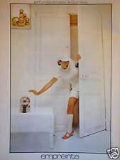 PUBLICITÉ 1974 EMPREINTE PARFUM EAU DE TOILETTE DE COURRÈGES - ADVERTISING