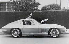 """12 By 18"""" Black & White Picture 1965 Corvette Coupe"""