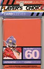 10 x PACKS of Yugioh sized Player's Choice ORANGE Card Sleeves 60ct!