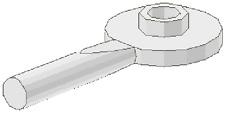 LEGO - Minifig, Utensil Signal Paddle (X2) - White