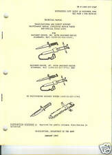 Bayonet-Knife, M6, M7 and M9 System, Maintenance