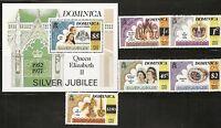 Dominica SC # 521-526  Queen Elizabeth Silver Jubilee 1952-1977 MNH.