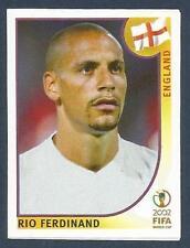 PANINI KOREA/JAPAN WORLD CUP 2002- #427-ENGLAND/MANCHESTER UNITED-RIO FERDINAND