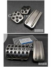 Car Pedal Pad Cover Accelerator Brake Clutch Stainless Ford Focus RS 05-12 MT AT