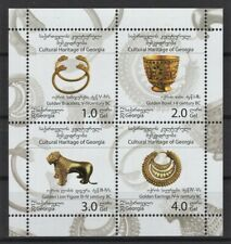 GEORGIA 2012 CULTURAL HERITAGE ARTEFACTS GOLDEN BOWL EARRINGS LION STAMPS MNH**