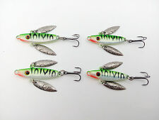 4pcs Lot Mini Ice Fishing Lures Metal Baits Lead Jig Fish Hooks Tackle 5cm/7g
