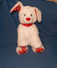 Build A Bear Workshop Holiday Puppy Dog Candy Red White Green stuffed plush 15""