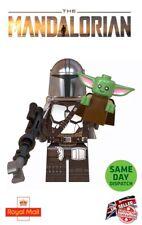 Baby Yoda & Mandalorian Lego Mini Figure Star Wars The Baby Mando Uk Seller 1