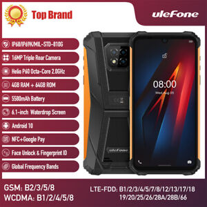 Ulefone Armor 8 4G Rugged Smartphone Unlocked Android 10 64GB Mobile Phone 16MP