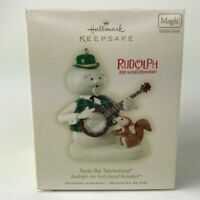 Hallmark Ornament Christmas Rudolph the Red Nosed Reindeer Sam the Snowman Sound