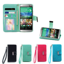 IZENGATE ID Wallet PU Leather Flip Case Cover Folio for HTC One M8 (2014)