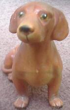 Vintage Red Dachshund Dog Ceramic Figurine Statue