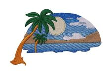 Hawaii Tropical Sunset Sun Beach Scene Embroidered Iron On Applique Patch P3809