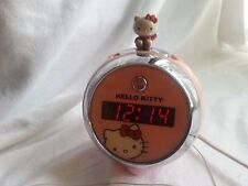 HELLO KITTY PINK DIGITAL ALARM/AM/FM PROJECTION CLOCK RADIO KT-2054-BACK UP 9V