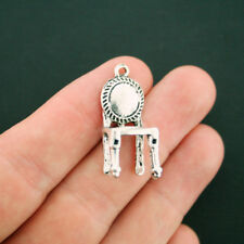 4 Chair Charms Antique Silver Tone Vintage Style 3D - SC3875 NEW6
