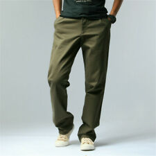 Men Cargo Work Pants Casual Sports Fishing Straight Leg Cotton Trousers Slim