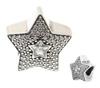 Genuine Pandora Sterling Silver ALE 925 Pave Wishing Star charm 791384CZ  PC247