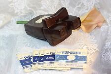 1950's SAWYER's Bakelite View-Master Stereoscope & Light Attachment w/ 7 Reels