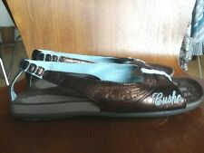 NEW! Cushe Leather Women's Sandals Size 6, Color Bronze&Blue
