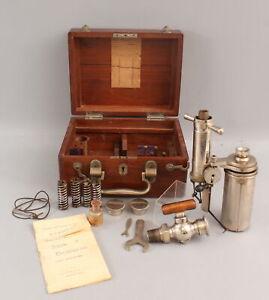 Antique Tabor Patented Steam Calorimeter, Cased Barrus Steam-Engine Indicator NR