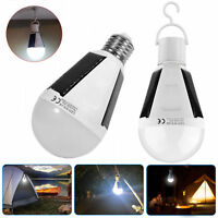 Solar Panel Powered LED Bulb Light Portable Outdoor Garden Camping Tent Lamp