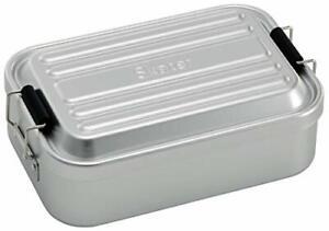 Skater Bento box Fluffy aluminum made lunch box Silver 600ml AFT6B