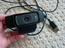 Genuine LOGITEC HD Pro C920 WEB CAM Full HD 1080p CARL ZEISS Lens PRE-OWNED