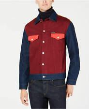 Calvin Klein Jeans para hombre Colorblocked Western Trucker Denim Jean Jacket Talla XL
