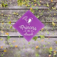 Princess on Board. Girls (Baby on Board) Birdy Safety Car Sticker/Baby Gift