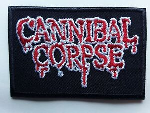 CANNIBAL CORPSE AMERICAN DEATH METAL HEAVY ROCK BAND EMBROIDERED PATCH UK SELLER