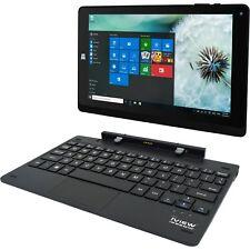 HD Touchscreen Laptop Tablet PC Windows 10 Intel Quad-Core Dual Camera WiFi HDMI