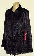 EVE HUNTER BlkCrushSatinFrilledParty Size18L rrp$129