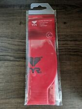 Red Tyr Latex Swim Cap with anti-roll edge, durable, lightweight, C classic size