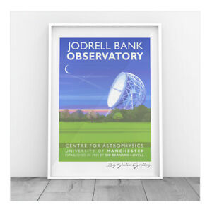 Original print Jodrell Bank Poster Cheshire astronomy observatory print only