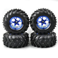 4X 1/10 Bigfoot Tires&Wheel 12mm Hex For HSP HPI 1:10 RC Monster Truck Model Car