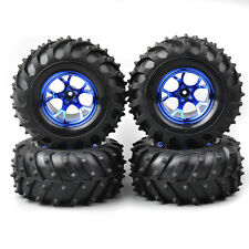 4X RC125mm Tires&Wheel Rims 12mm Hex For HSP HPI 1/10 Bigfoot Monster Truck Car