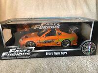 1:18 Brian's 1995 Toyota Supra - Fast & Furious Orange Supra Car Jada NIB VHTF