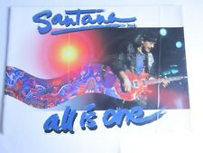 SANTANA ..PROGRAMME CONCERT  ALL IS ONE