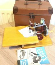 Vintage Essex Miniature/Toy Chainstitch Sewing machine With Instruction Manual