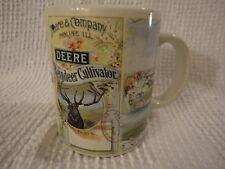 John Deere Tractor Reindeer Cultivator Coffee Cup Mug