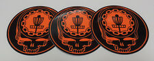 "New-3-4"" Disc Golf Sticker-Steal Your Ace Face-Black & Orange-Very High Quality"