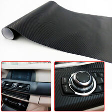 "12"" x 50"" 3D Carbon Fiber Vinyl Car DIY Wrap Sheet Roll Film Sticker Decal Black"